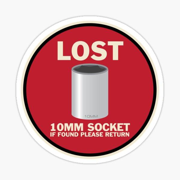 LOST - 10mm Socket Sticker