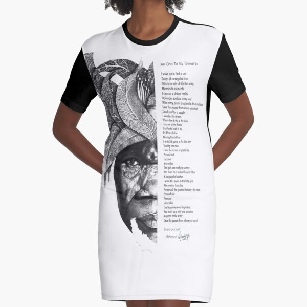An Ode To My Township Graphic T-Shirt Dress