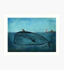 Whale and dog Art Print