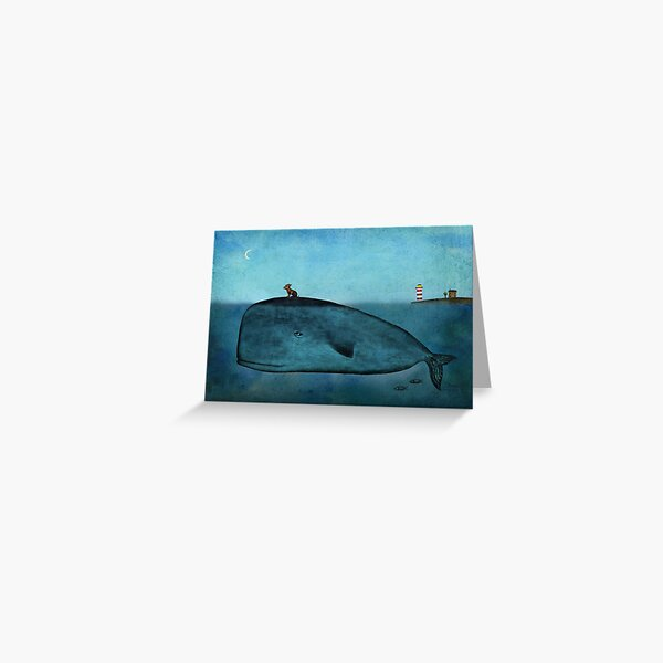 Whale and dog Greeting Card