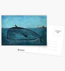 Whale and dog Postcards
