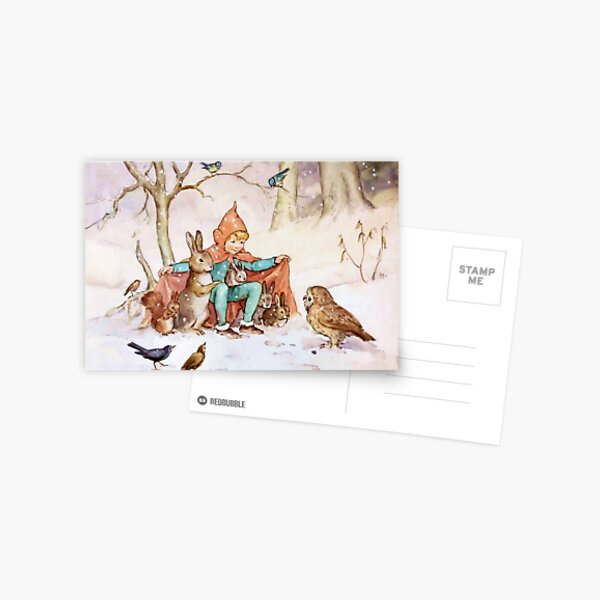 """""""Schutz vor der Kälte"""" von Margaret Tarrant Postkarte"""
