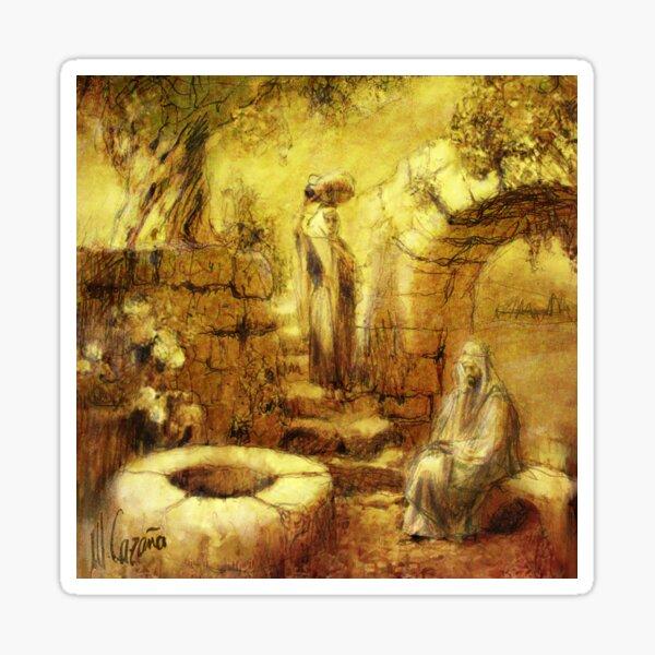 John 4. Jesus and the Samaritan Woman - Religious pictures Sticker