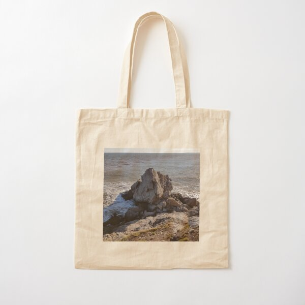 Cape Spencer Rock, New Brunswick Cotton Tote Bag