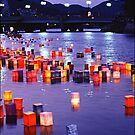 Floating Lanterns -  Hiroshima, August 6 2003 by Jaxybelle