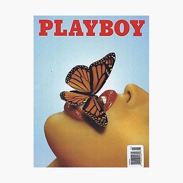 Vintage Blue Playboy Photographic Print
