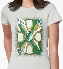 DAY 111 -  (365 DAY PROJECT - 'ONE DAY AT A TIME')  CELTIC DESIGN   Womens Fitted T-Shirt