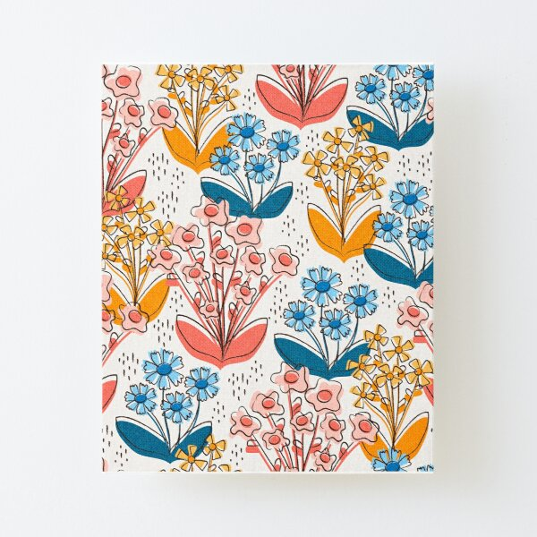 Toile Wild Flower Canvas Mounted Print