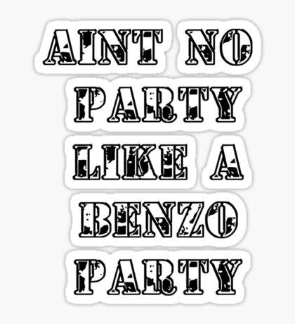 Benzo Party Sticker