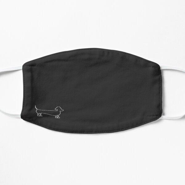 Dachshund Silhouette in Dark Flat Mask