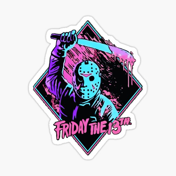 Jason Friday the 13th Sticker