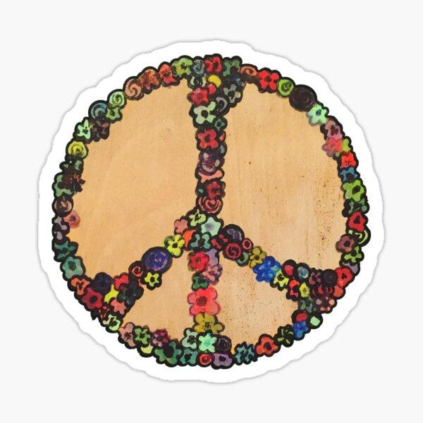 Handpainted Peace Sticker