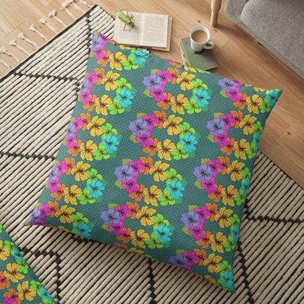 Lei Anuenue - Rainbow Lei Floor Pillow