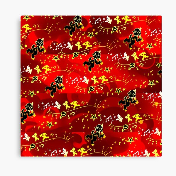 Gold Red Satyr Pattern Canvas Print