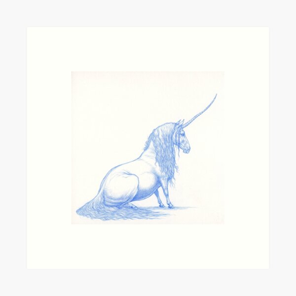 Pudgy Unicorn Art Print