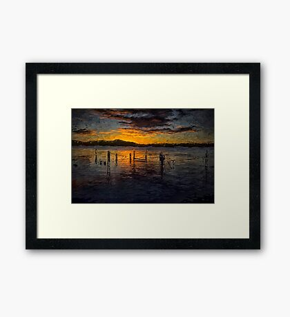 Tranquility - Woy Woy NSW - The HDR Painted Experience Framed Print