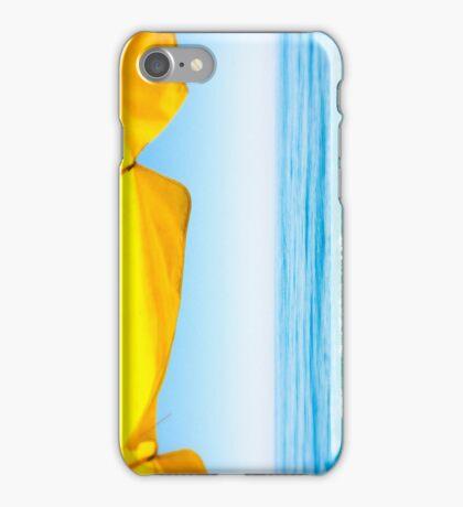 Yellow Sun Shade and Blue Sky iPhone Case/Skin