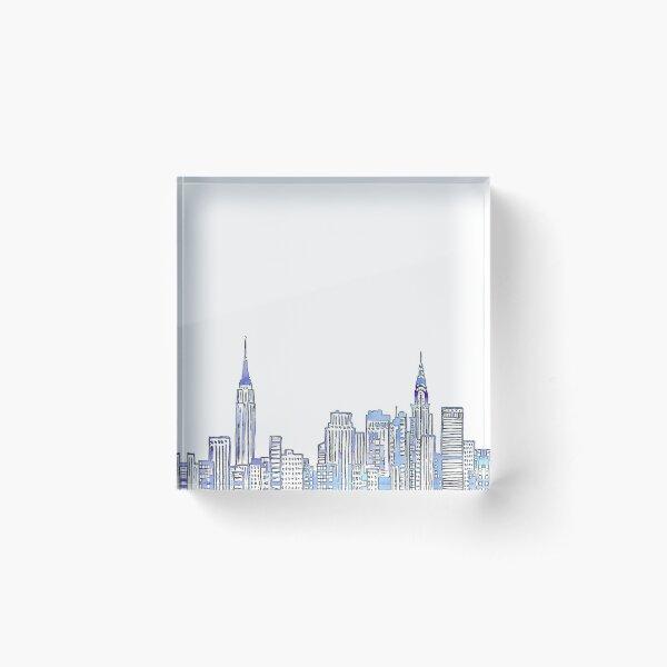 NYC Skyline Acrylic Block