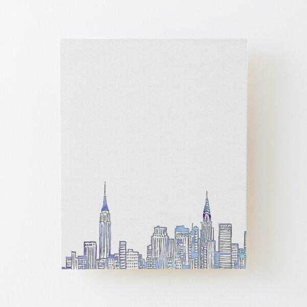 NYC Skyline Lámina montada de madera