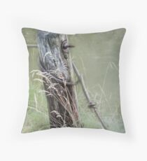 The old fence post Throw Pillow
