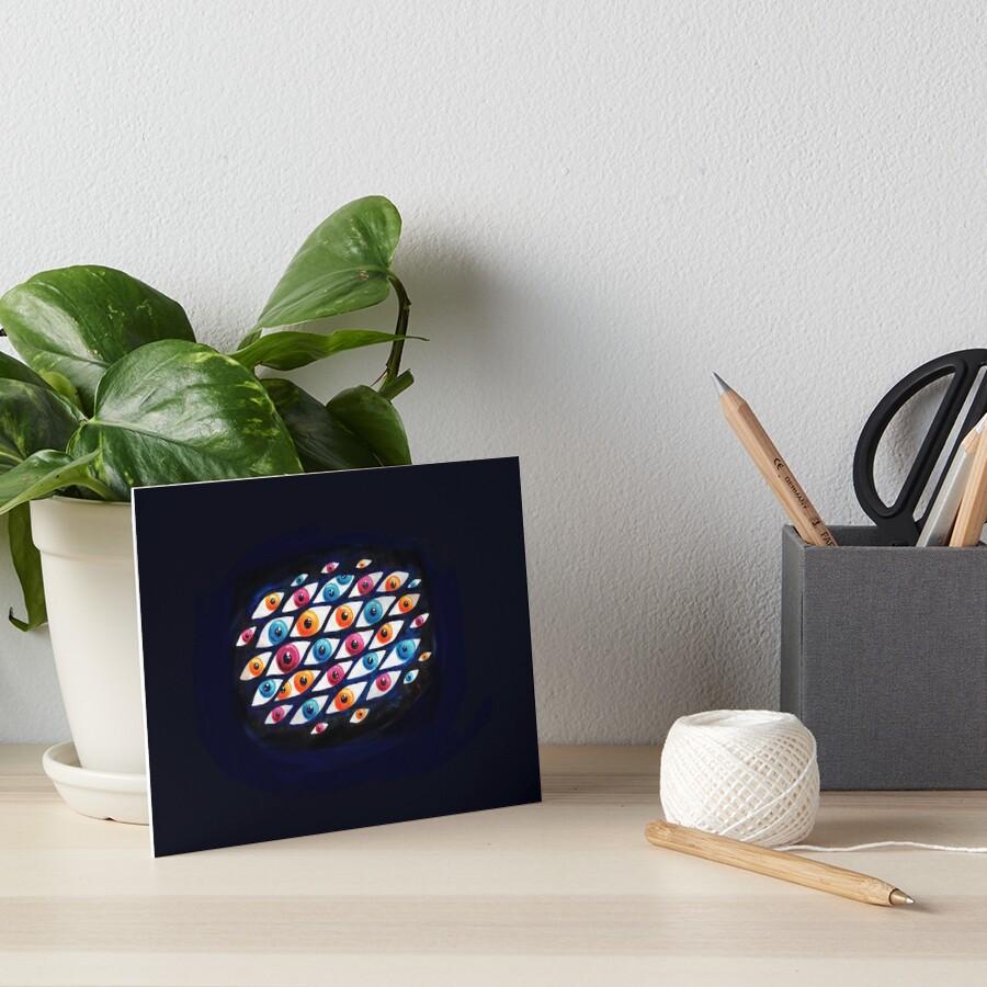 EyeCloud Art Board Print