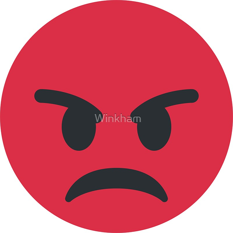 """""""Red Angry Face Emoji"""" Stickers by Winkham 