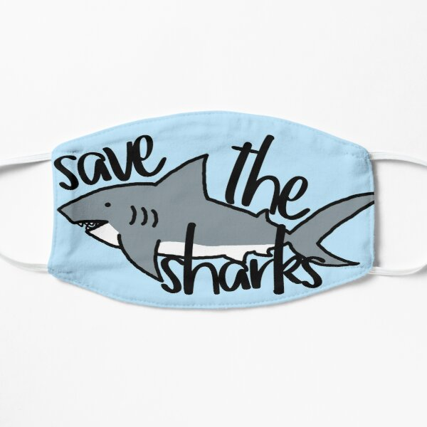Save the Sharks Flat Mask