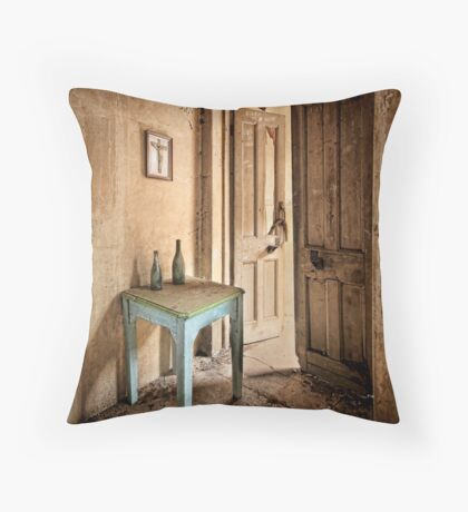 The Blue Table Throw Pillow