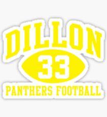Dillon Panthers Football #33 Sticker