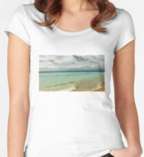 Dreamland Beach Women's Fitted Scoop T-Shirt
