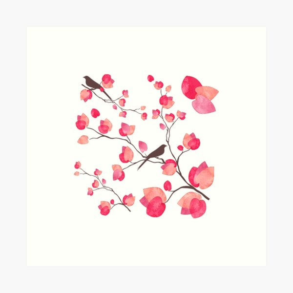 BOUGAINVILLEA BRANCH Art Print