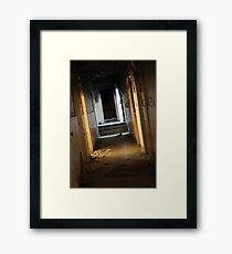 The Dimly Lit Corridor Framed Print