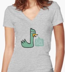 The Upset Duck Women's Fitted V-Neck T-Shirt
