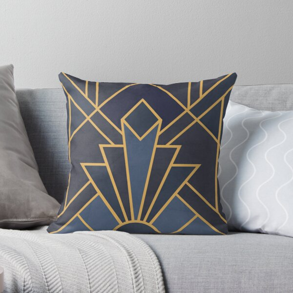 Art Deco inspiration Throw Pillow