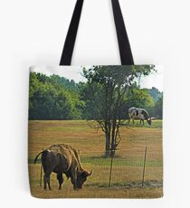 """Wrong Side of the Fence"".... Tote Bag"
