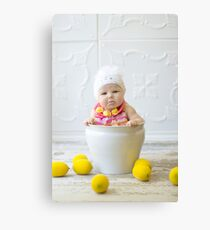 Adorable sour puss Canvas Print