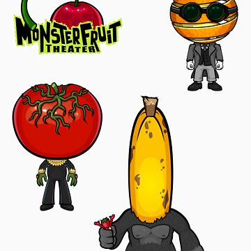 MonsterFruit Theater Large Sticker Sheet 2 by wickedstudios