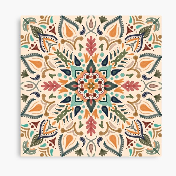 Hacienda mandala Canvas Print