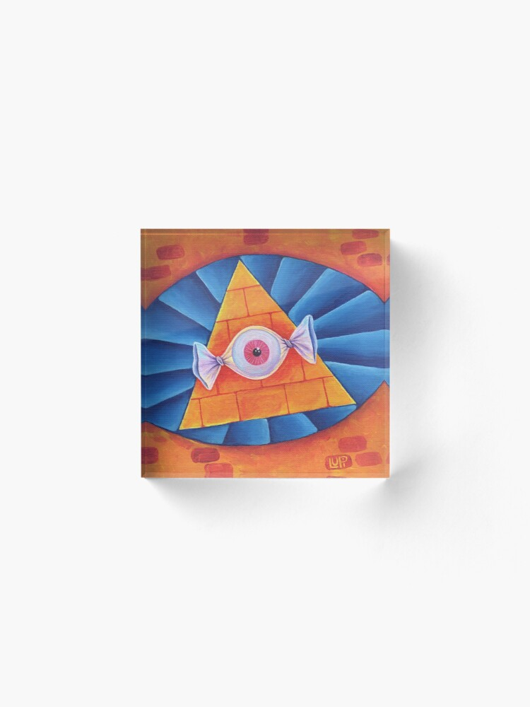 Alternate view of The All-Seeing Eye Candy Acrylic Block