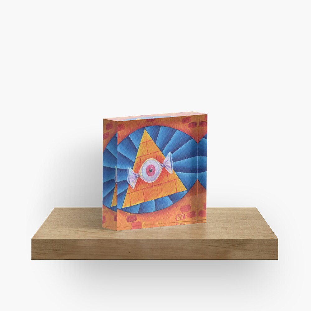 The All-Seeing Eye Candy Acrylic Block