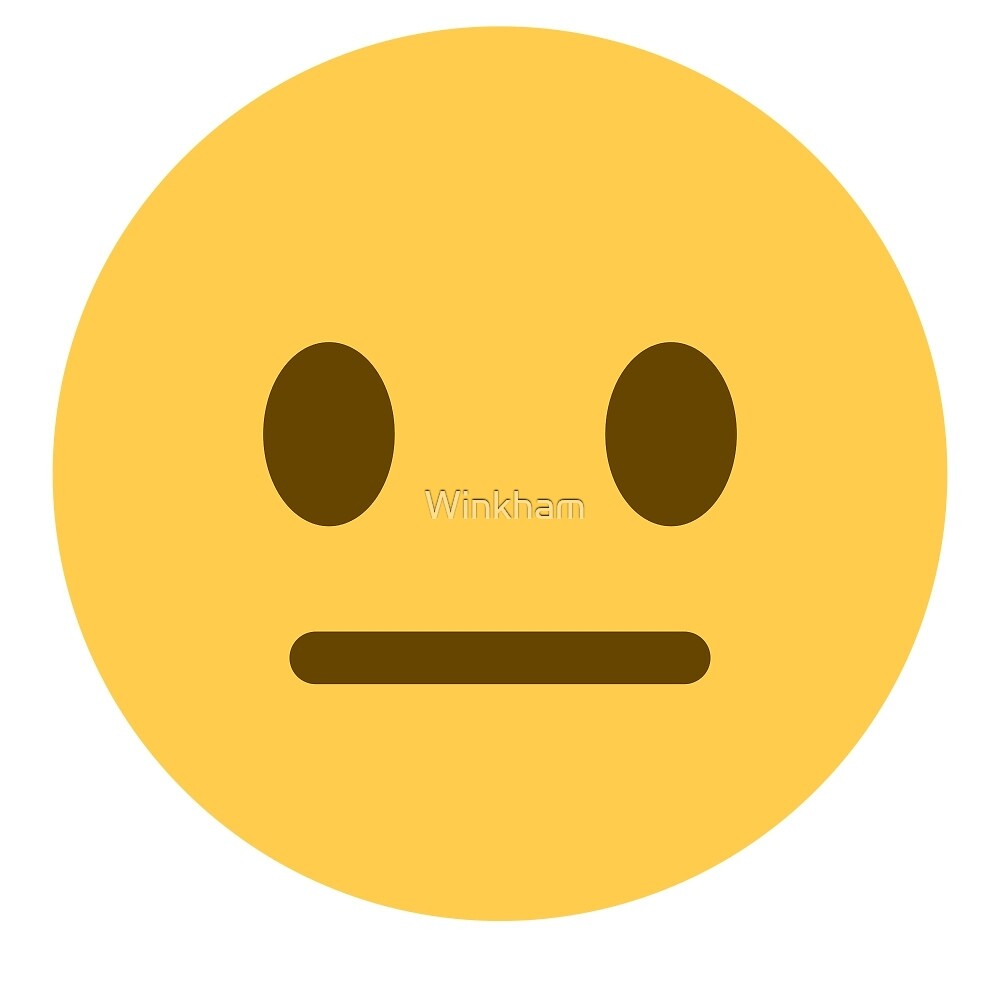 quotneutral face emojiquot by winkham redbubble