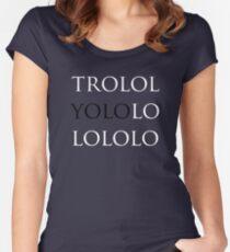 YOLO - trololoyolololo Women's Fitted Scoop T-Shirt