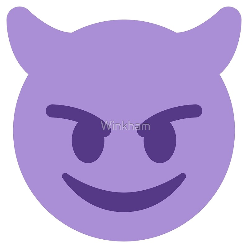 Quot Purple Smiling Devil With Horns Emoji Quot By Winkham Redbubble