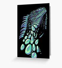 Iguana (soap bubbles) Greeting Card