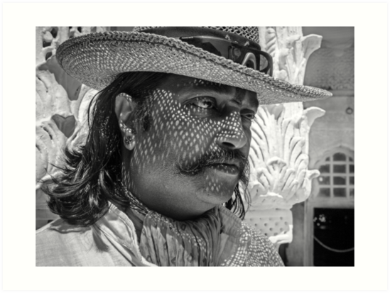 Man from Jodhpur, Rajasthan, India by Heather Buckley