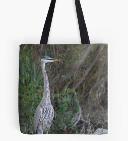 Great Blue Heron on the Milwaukee River Tote Bag