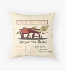 Imagination Rocket Throw Pillow