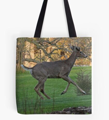 Running White-Tailed Buck Tote Bag