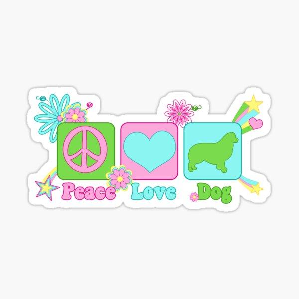 Peace, Love, Australian Shepherd Sticker