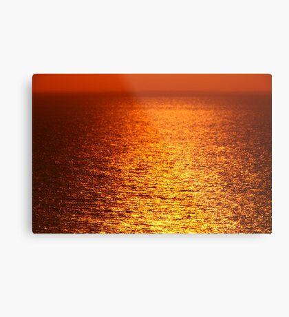 Lake Michigan Sunrise on the Horizon Metal Print